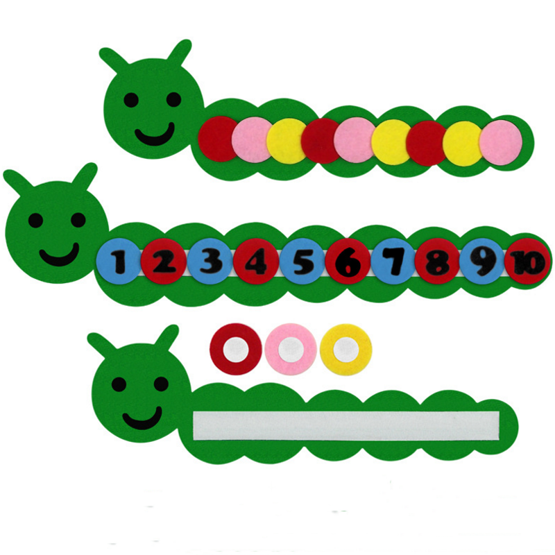 1pcs cute Teaching Aids Educational Toys for Kids Class Number Sorting Fun Non-woven Kindergarten Manual Material Puzzles Gifts