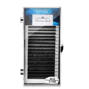 Image 2 - 卸売個人シルクラッシュミックス長まつげ延長ミンクつけまつげソフト黒 16 行 Microblading メイクツール