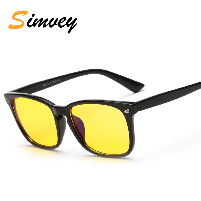 Simvey Classic Retro Anti Blue Ray Glasses for Computer Blue Filter Glass Men Women Radiation Protection Reading Gaming Glasses