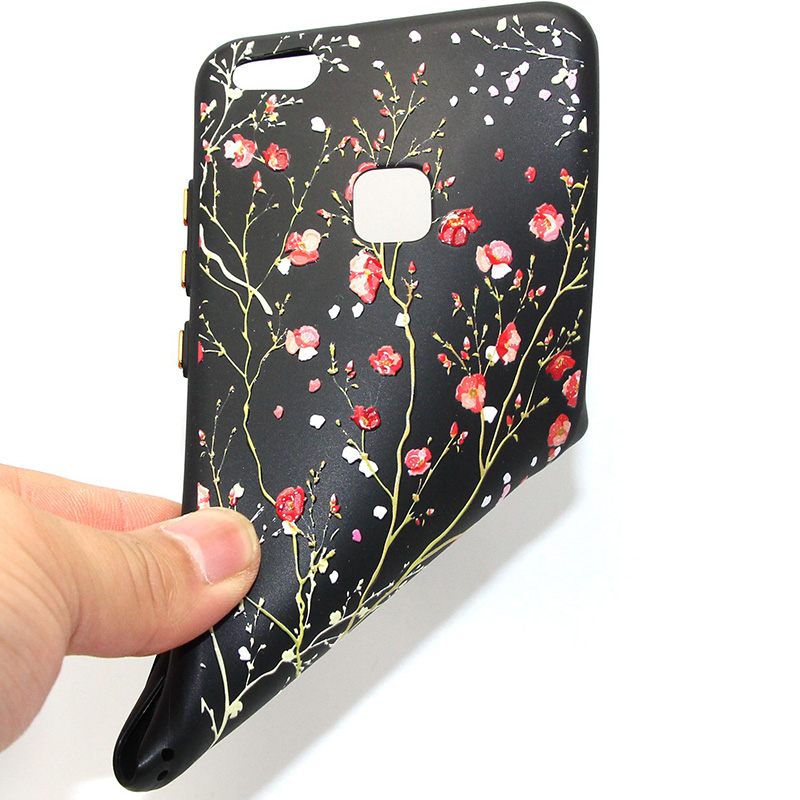 3D Relief flower silicone huawei P10 lite (27)