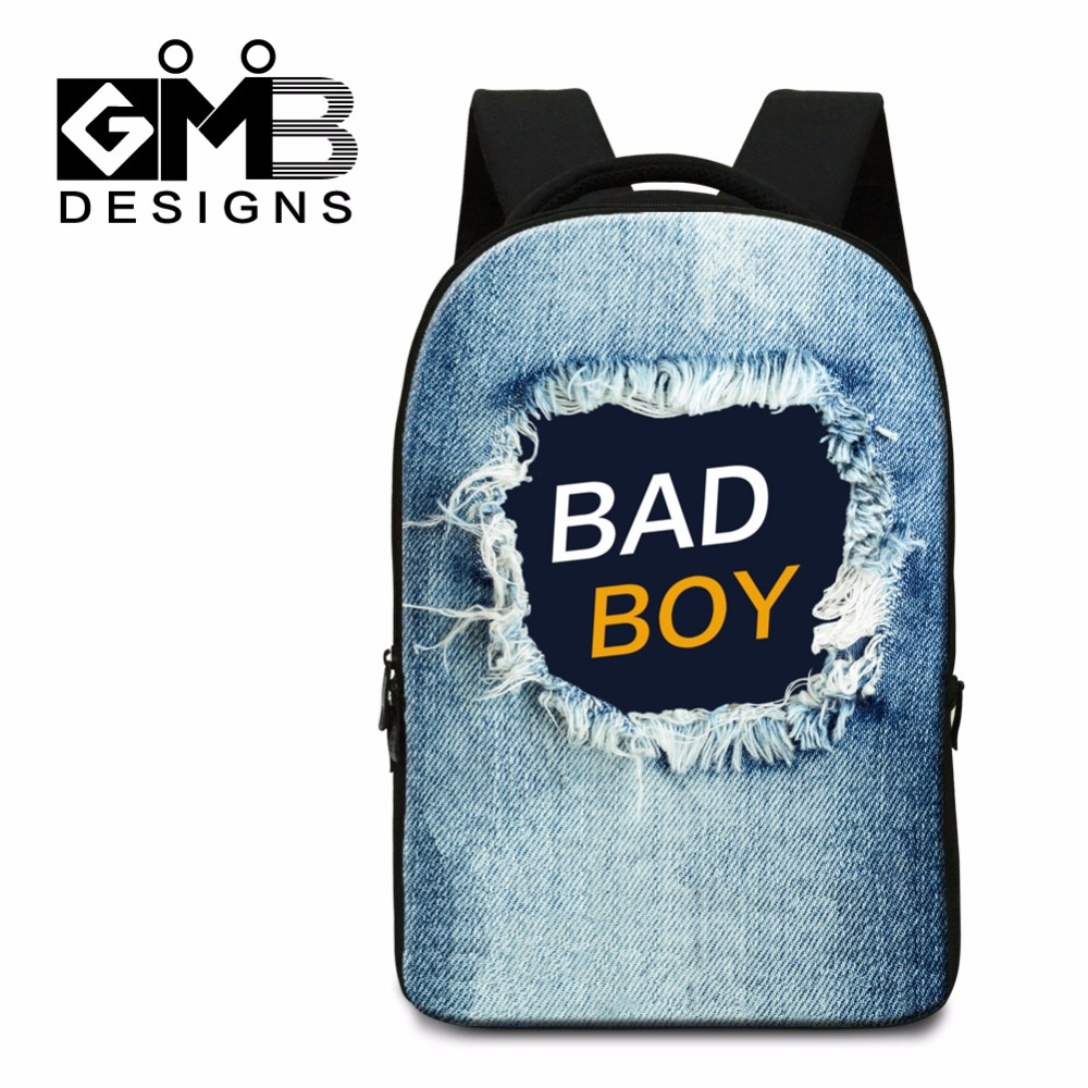Us 34 99 30 Off Dispalang Bad Boy Laptop Backpacks For College Students Fashion Custom School Bookbags Agers Computer Bag S Mochilas In