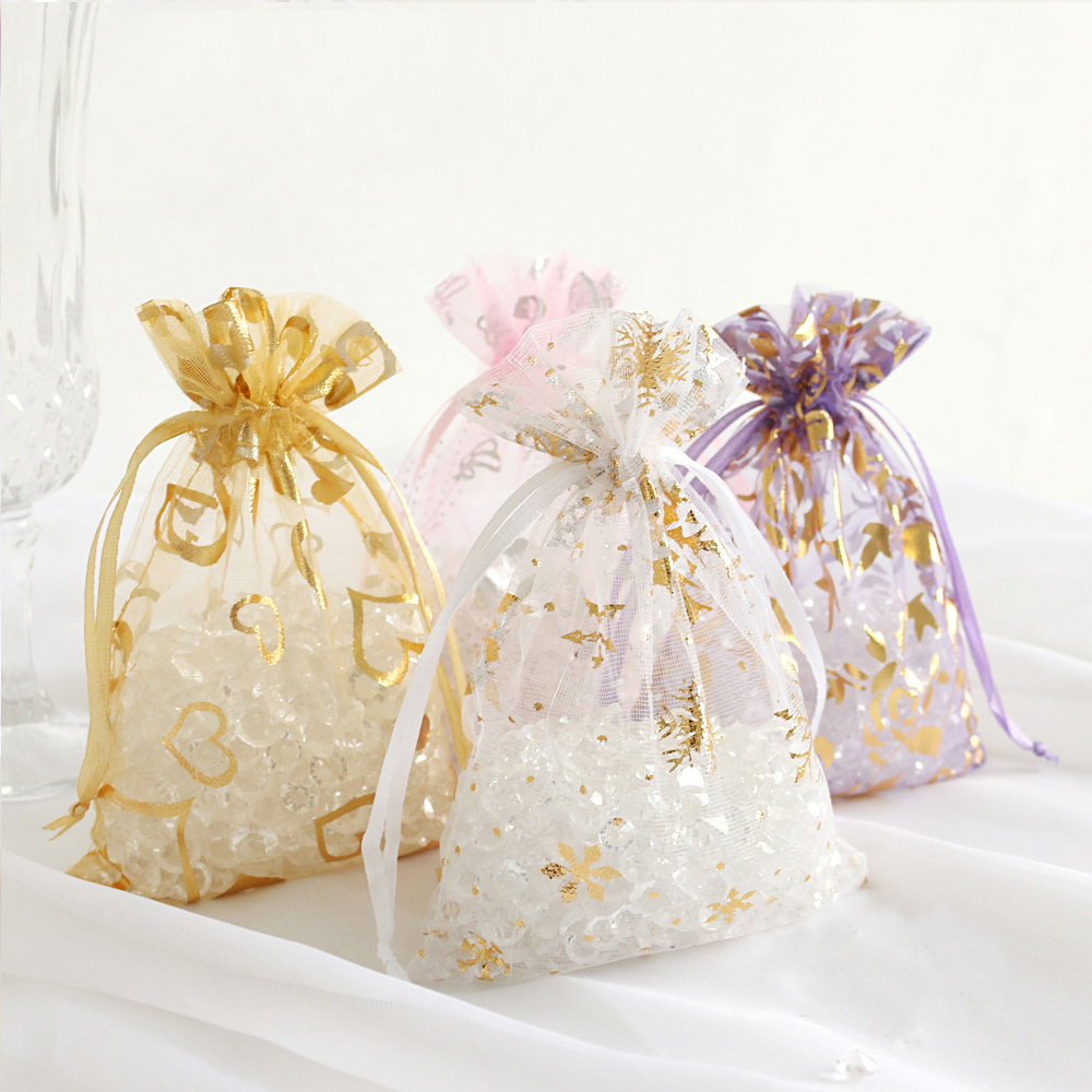 Aliexpresscom Buy 50ps 12color Organza Wedding Favor Candy Gift