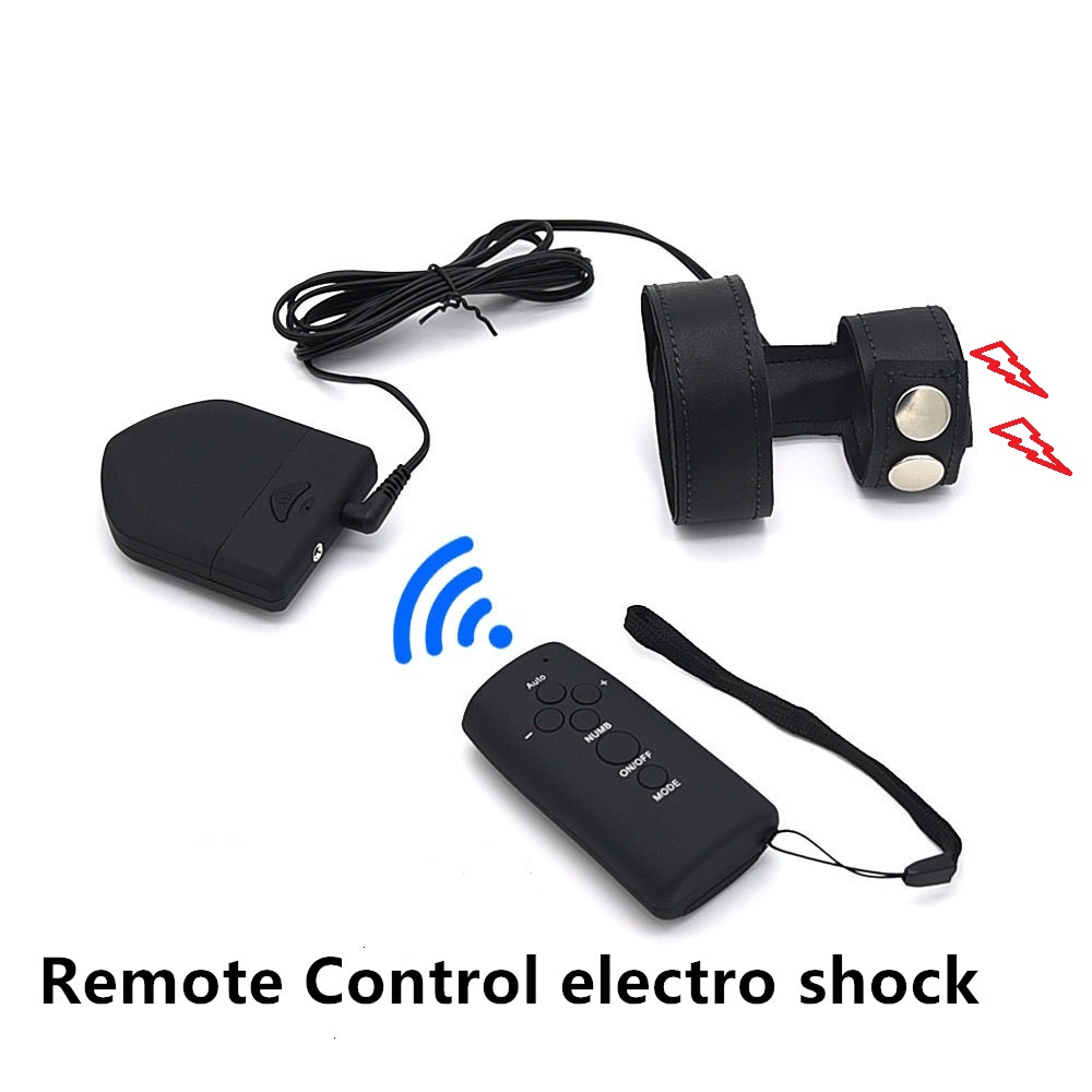 New hot male 6 speed Electro shock penis cock ring remote control wireless electric stimulation BDSM bondage sex toy for man new remote control penis extender pump sleeve penis ring waterproof vibrator cock ring adult sex products sex toys for couples