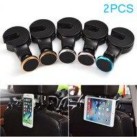 2Pcs Multifunction Car Headrest Hanger Hook Back Seat Magnetic Phone Mount Holder For IPad Tablet GPS