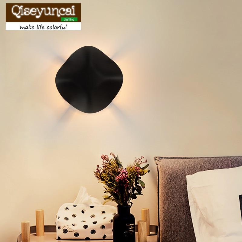 Qiseyuncai Nordic postmodern living room iron Fungus wall lamp creative aisle corridor staircase wall bedroom bedside lighting