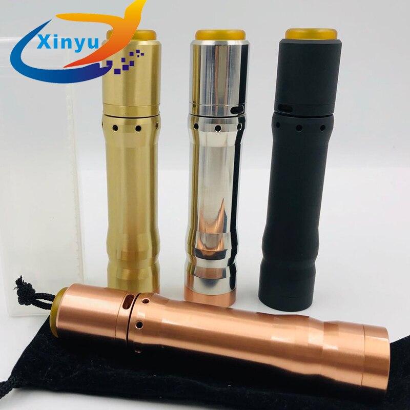 100% Original sub dois 26mm latão Vaporizador Mech Mod 18650 20700 21700 Bateria Mod VS Kennedy 25 Vindicator MOD kit KIT AvidLyfe