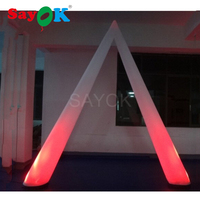L2m*H3m Inflatable Ground LED Light Inflatable Arch Decoration Light with LED Light for Event Advertising Wedding Party