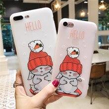 Phone Case For iPhone XS Max 7 8 6 6s Plus Cartoon Cute Cat Animal  X Matte Soft TPU Silicone Back Cover Capa
