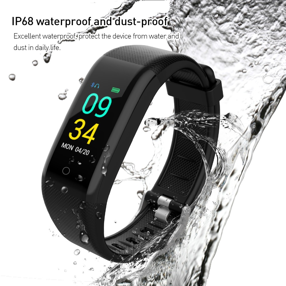T10 smart watch IP68 waterproof heart rate fitness tracker wearable device for Android IOS swim smart wristband PK B05 ID115 Y5