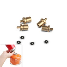 Outdoor Gas Refill Adapter Camping Stove Gas Cylinder Gas Tank Gas Accessories Hiking Inflate Butane Canister