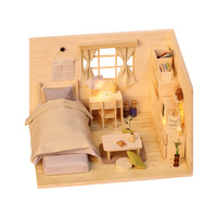 1PC Adorable lovely Delicate Cute DIY House Miniature House DIY Kit Gifts for Friends Families Girl