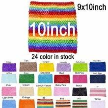 Вязаный топ-пачка 9x10 дюймов, вязаная для маленькой девочки, юбка-американка, топы-пачка, вязаные повязки на голову, 10 шт. в партии, цвет U-pick