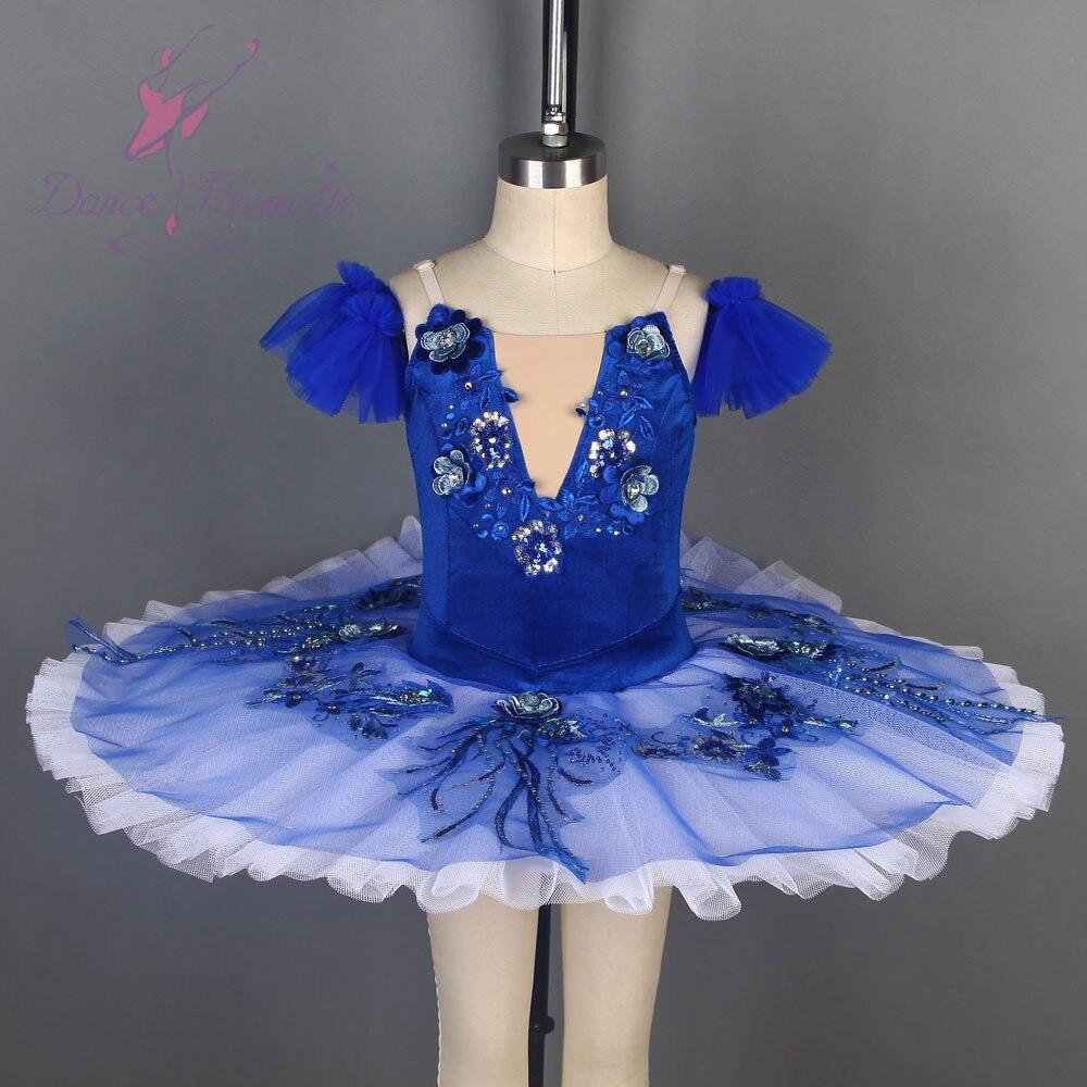 Samt Blau Vogel Ballett Tutu Schwarz Schwan Ballett Tutu Pre professionelle Ballett Tutu Für Wettbewerb Oder Leistung Dance Kostüme