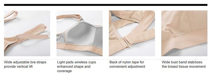 Syrokan feminino frente ajustável wirefree alto impacto