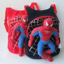 2016 High Quality 3D Spiderman Backpack Baby For Children Cartoon Kids Plush Toys