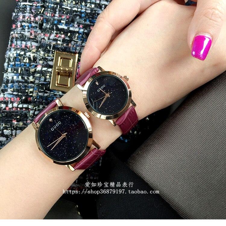 2018 Fashion Hot Women Watch High Quality Luxury Rhinestone Wristwatch Crystal Dress Watches Male Female Real Leather Band clock