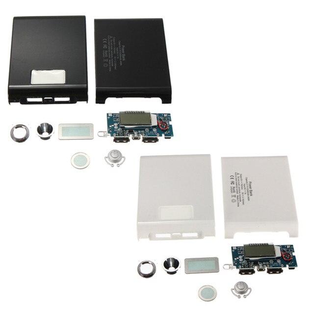 USB האוניברסלי הכפול DIY 4X18650 בנק כוח מקרה LED 5 V 1A 2.1A תיבת מטען MP3 לוח iPhone 4 מכשיר חכם סמסונג