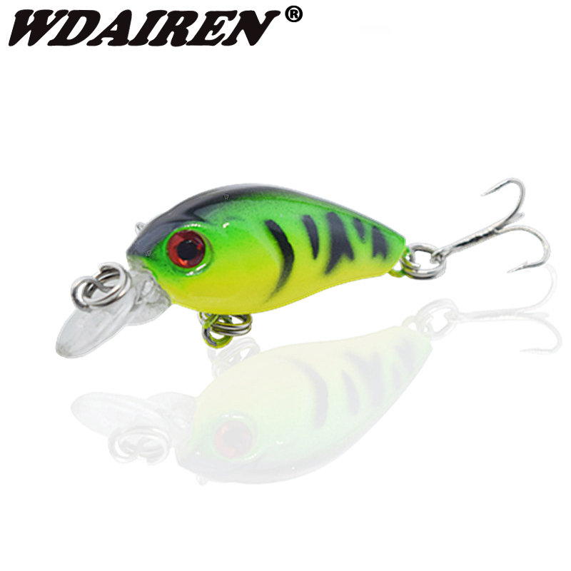 1Pcs 4.5cm 4g Fishing Lures Crank Baits Mini Crankbait Wobblers 3D Fish Eye Artificial Lure Bait with Lifelike Fake Lure NE-312 crank bait plastic hard lures 38mm fishing baits crankbaits wobblers freshwater fish lure free shipment