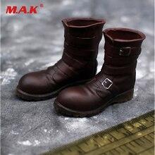 1/6 Для мужчин коричневый Танк боевой Сапоги и ботинки для девочек Обувь модель пусто внутри для 12 дюйм(ов) мужской Солдат Рисунок аксессуар