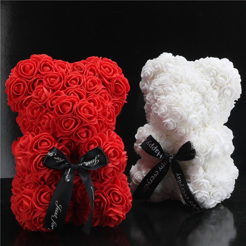 foam rose bear flower (66)