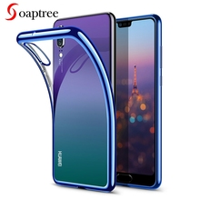 Soaptree Phone Case For Huawei P20 Lite Cases Silicone Plated Transparent For Huawei P20 Pro P20 Plus Nova 3ECover аксессуар чехол для huawei p20 pro ibox crystal silicone transparent