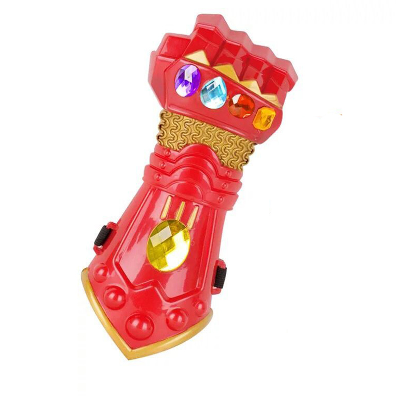 Kids Boys Girls Avengers 4 Endgame Thanos Gauntlet Plastic Gloves Party Holiday Halloween Cosplay Props Toys For Children High Safety Boys Costume Accessories