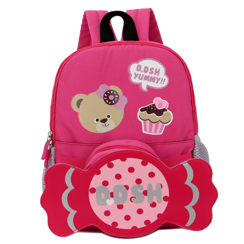 Creative Cartoon School Bags Kindergarten Girls Multifunctional Travel Backpack Kids Candy Schoolbag Casual Breathable Rucksack