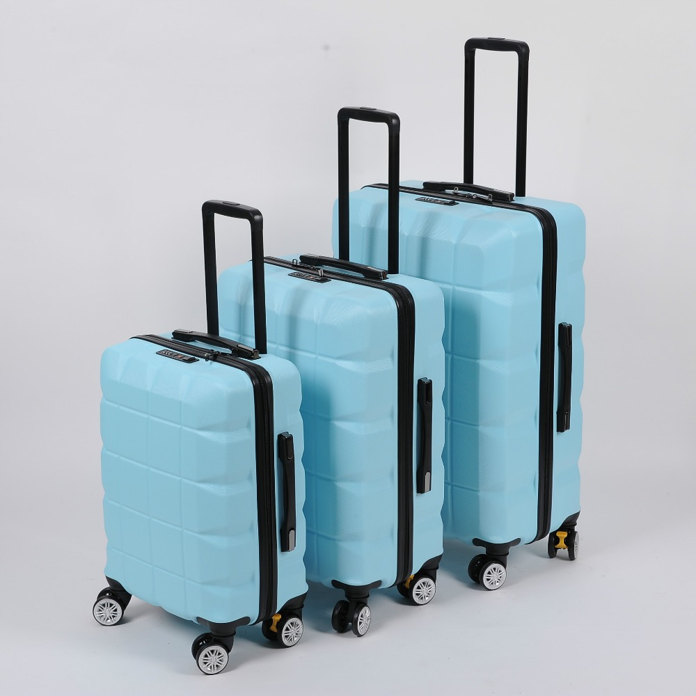 20/24 inch Stripe multicolor universal wheel rolling suitcase Fashion combination lock luggage suitcase 106
