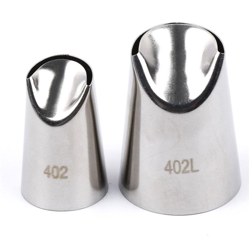 402L # Grande Bolo de Creme de Confeiteiro Piping Bicos Dicas Ferramentas de Cozimento Para Bolos Bakeware Fondant de decoração de Pastelaria Bicos de Aço Inoxidável