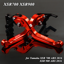 цена на For Yamaha XSR700 XSR900 XSR 700 900 ABS 2016 Foldable Extendable  Aluminum Motorbike Accessories Motorcycle Brake Clutch Levers