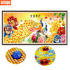 UzeQu Special Shaped Diamond Mosaic 5D DIY Diamond Painting Cross Stitch Golden Peacock Peony 3D