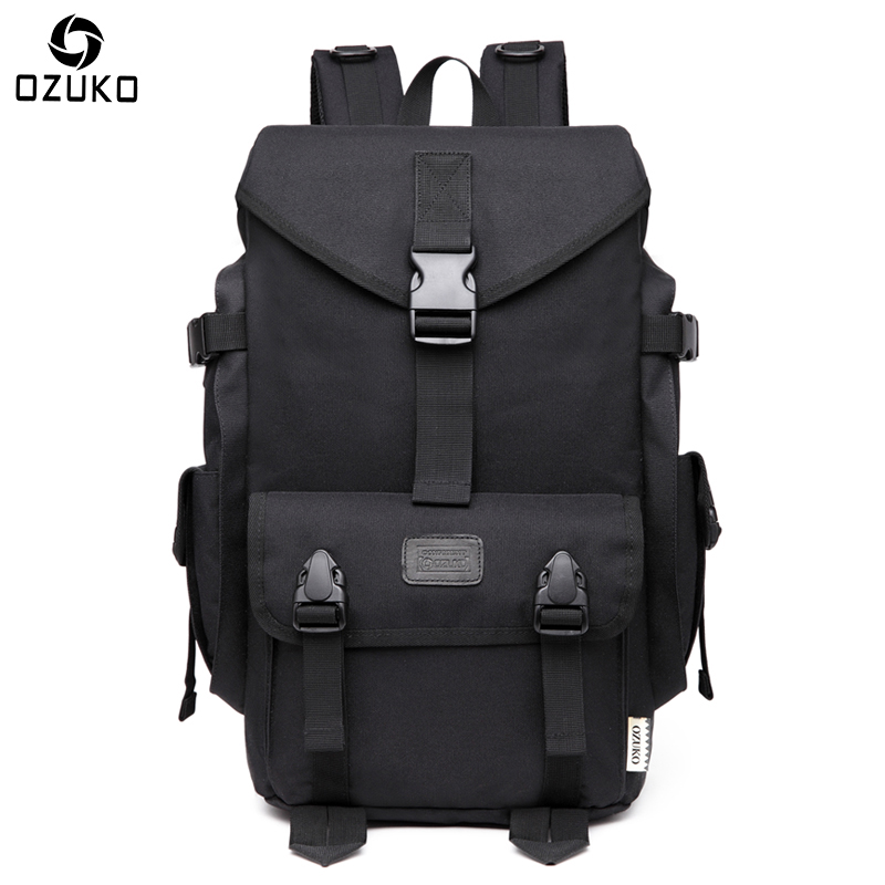 OZUKO Brand Large Capacity Men Backpack 15.6inch Laptop Backpack Oxford Waterproof Travel Mochila Fashion Casual School Backpack 2018 korean new female oxford school backpack brand laptop backpack women kanken backpack fashion lady shoulder mochila travel