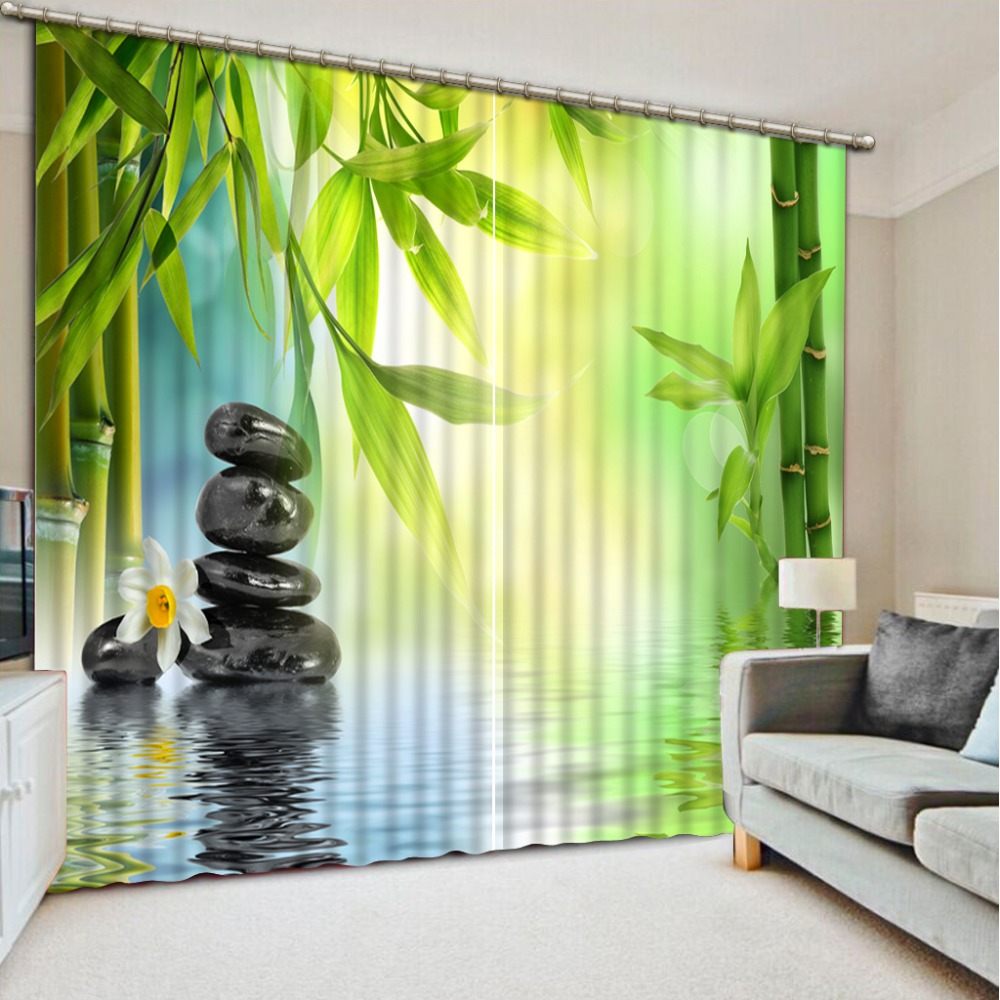 modern window curtains stereoscopic window curtain 3d Lake stone living room bedroom kids blackout curtains     modern window curtains stereoscopic window curtain 3d Lake stone living room bedroom kids blackout curtains
