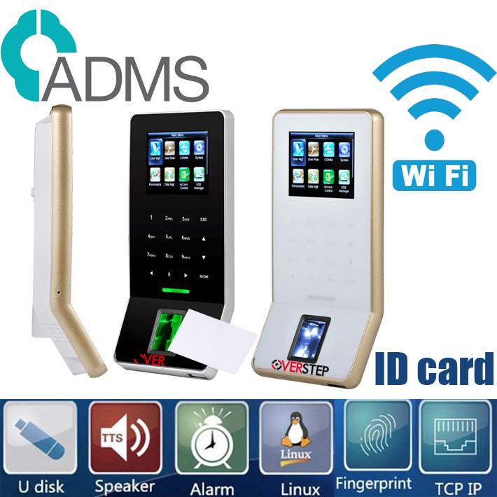 New Zk F22 WIFI And RJ45 Connection Ultra Thin Fingerprint Time Attendance And Access Control Biometric Employee  ZKteco F22