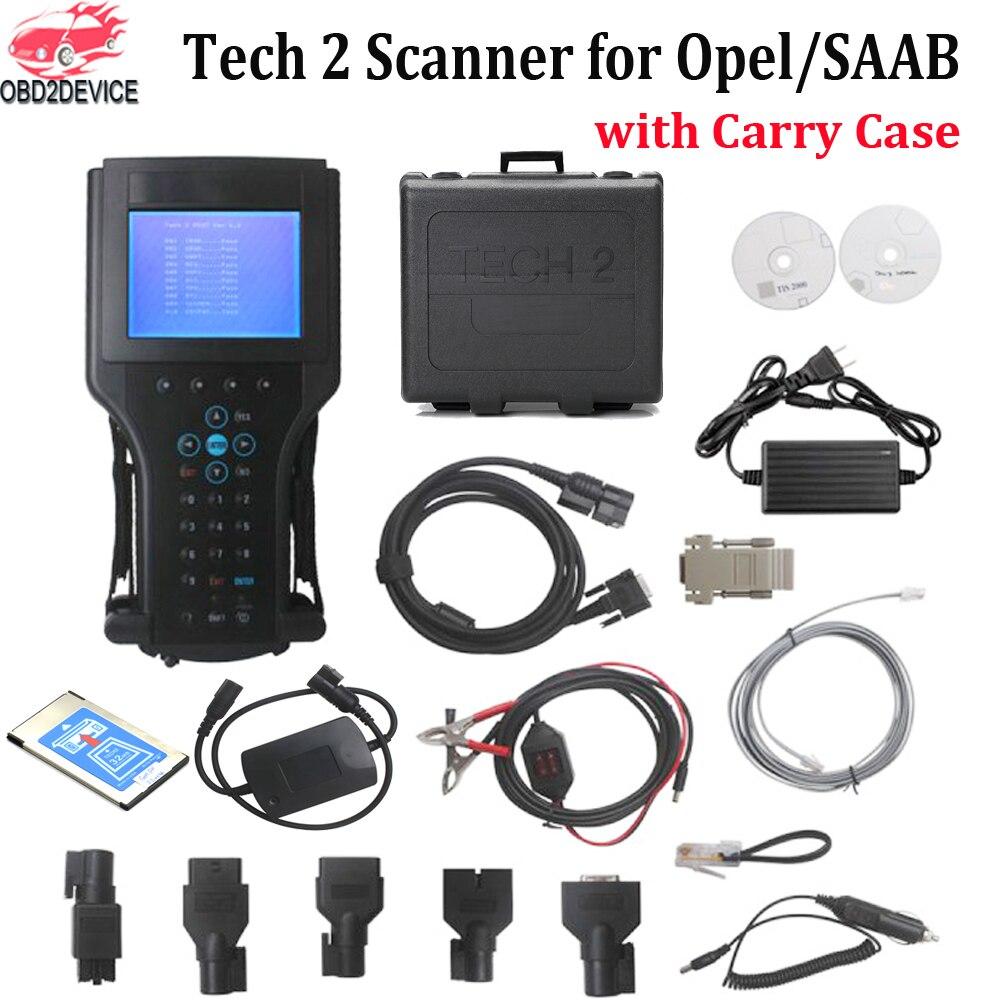 2019 Tech2 diagnostic tool for G-M/SAAB/OPEL/SUZUKI/ISUZU/Holden forG M tech 2 scanner Car diagnostics with Plastic Box tech 2 scanner for sale