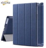 KISSCASE Ledertasche für iPad 2/3/4 Schlaf Wach Flip abdeckung für apple ipad2 ipad3 ipad4 Gefaltet Tabletten Zubehör Taschen