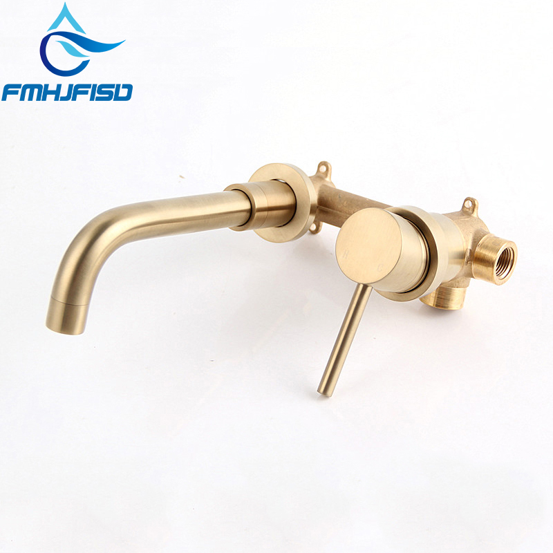 Basin Faucet ORB Finished Wall Mounted Bubble Water Faucet Bathroom hot and cold Water Mixer Taps bathroom faucet into the wall cold and hot water taps embedded type mixer double handles table basin wash basin faucet torneira