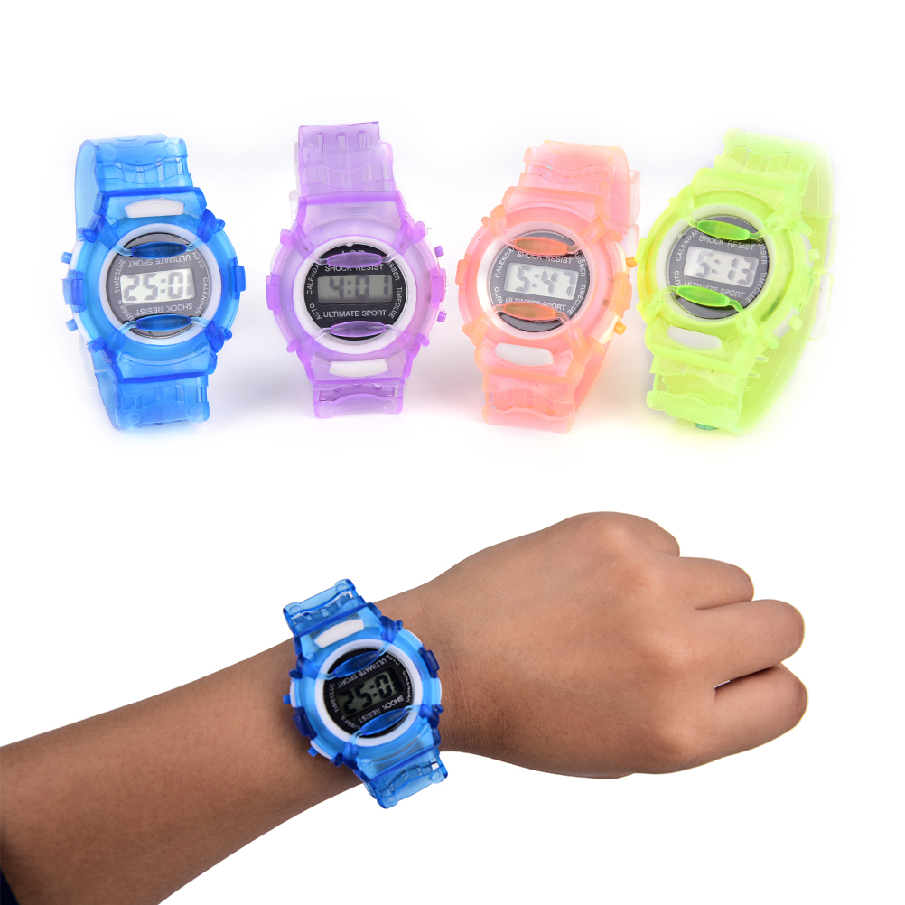 Children's Watches Special Section #5001waterproof Children Girls Digital Led Quartz Alarm Date Sports Wrist Watch Dropshipping New Arrival Freeshipping Hot Sales