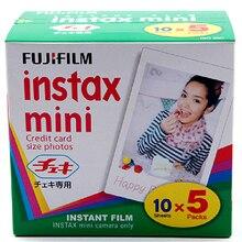 Genuino 50 hoja borde blanco Fuji Fujifilm Instax Mini 8 de cine para 8 50 s 7 s 7 90 25 compartir SP-1 instantánea cámara envío rápido envío gratuito
