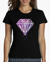2017 Summer Hot Sale T Shirt Women Diamond Galaxy Short Letter Cotton Kpop Four Colors