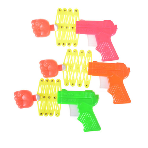 Elastic Telescopic Fist Gun Magic Tricks Toys Manual Toy Kids Toy Plastic