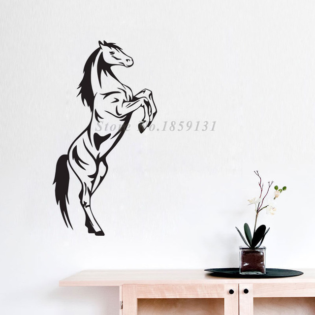 Vinyl Self Adhesive Horse Wall Sticker Animal Wall Decal Removable ...