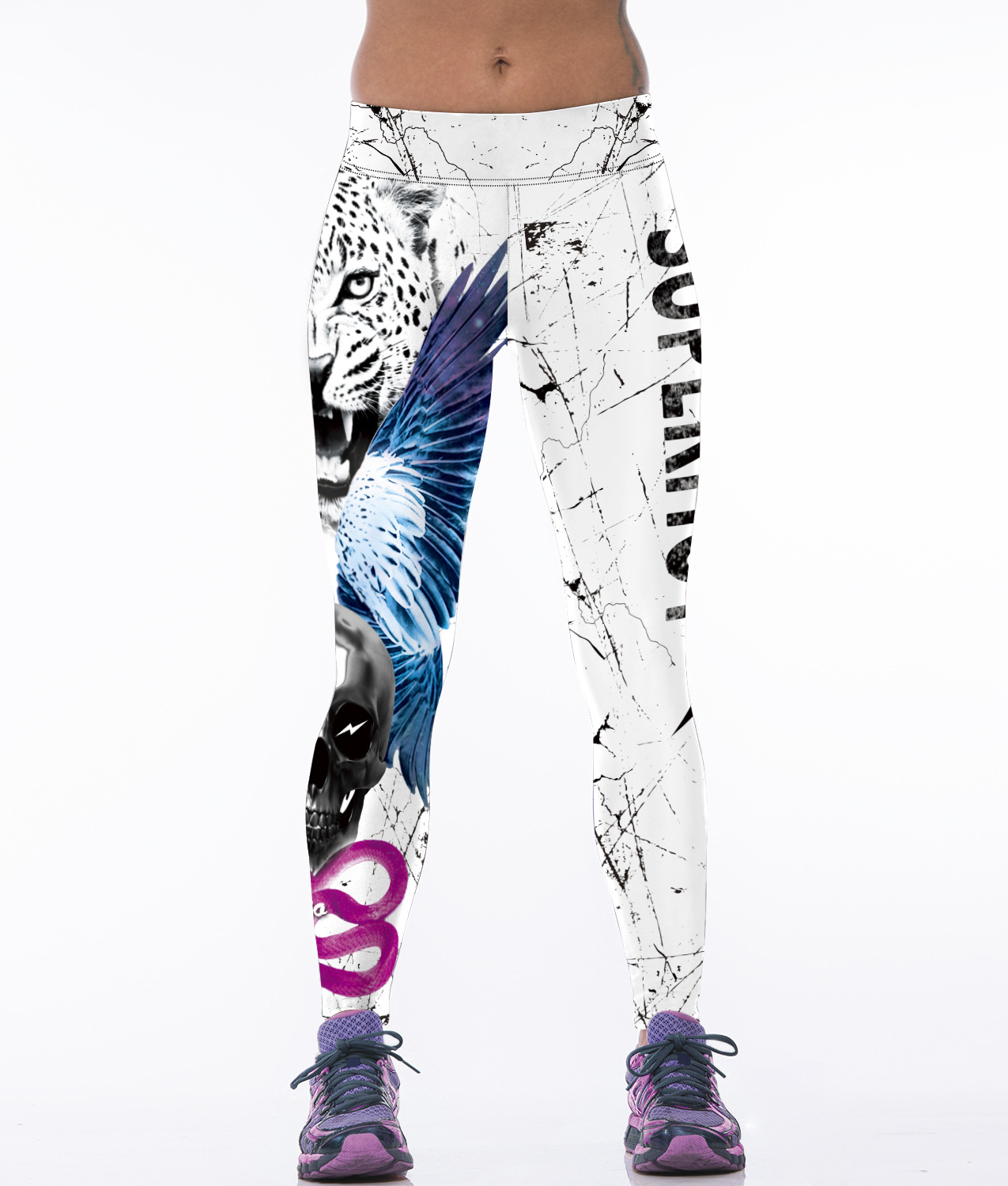 Women font b Fitness b font Leggings 2017 Ladies Tiger Printing Stretch Leggins Ropa Deportiva Mujer