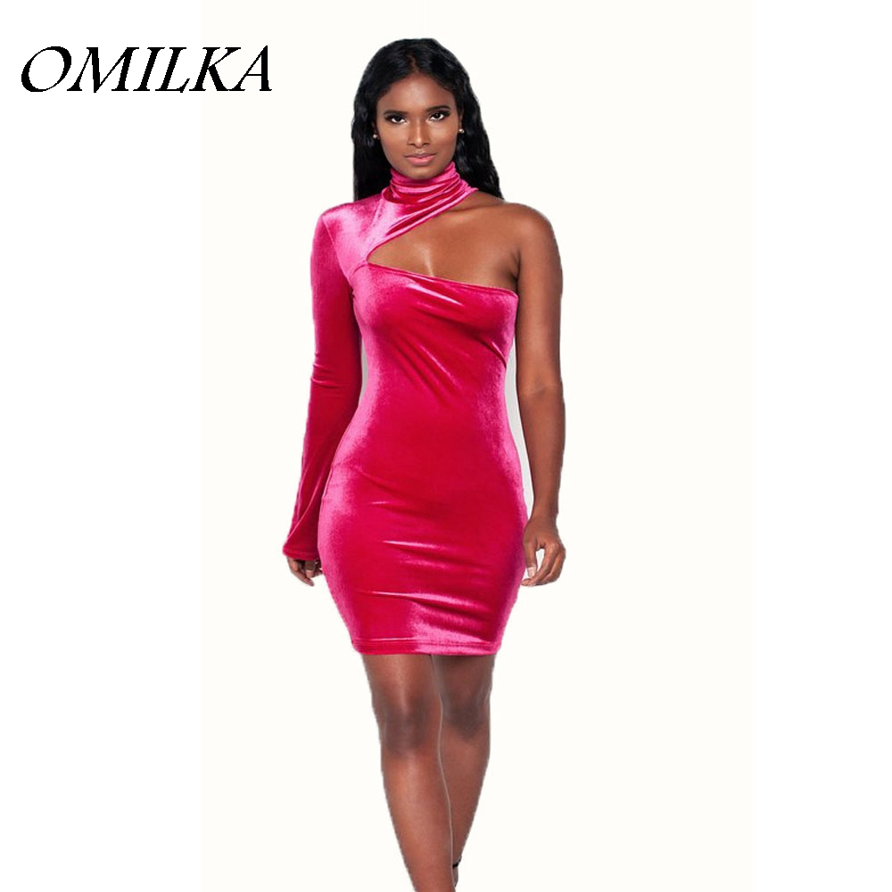 69828d4820 Buy pink velvet long sleeve dress and get free shipping on AliExpress.com