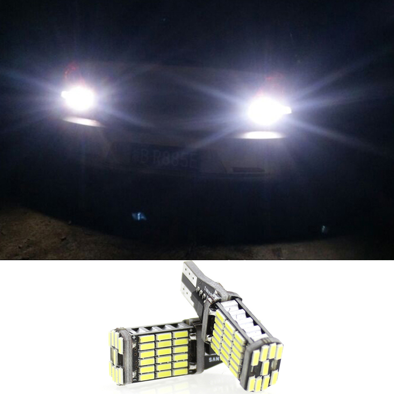 2X Canbus T15 921 W16W 4014 SMD 45LED Auto Backup Light Bil Baklykt - Billykter