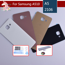 For Samsung Galaxy A510 A510F A5100 A5 2016 Housing Battery Cover Door Rear Chassis Back Case Housing Glass Replacement for samsung galaxy a710 a710f a7100 a7 2016 housing battery cover door rear chassis back case housing glass replacement
