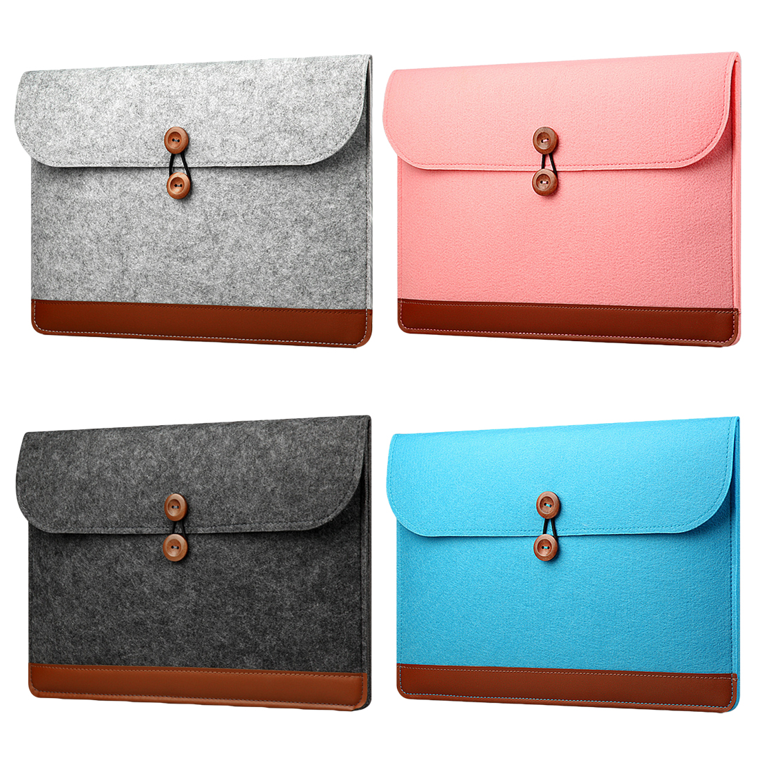 Creative New Fashion Soft Sleeve Bag Case For Apple Macbook Air Pro Retina 11 12 13 15 Laptop Anti-scratch Felt Cover