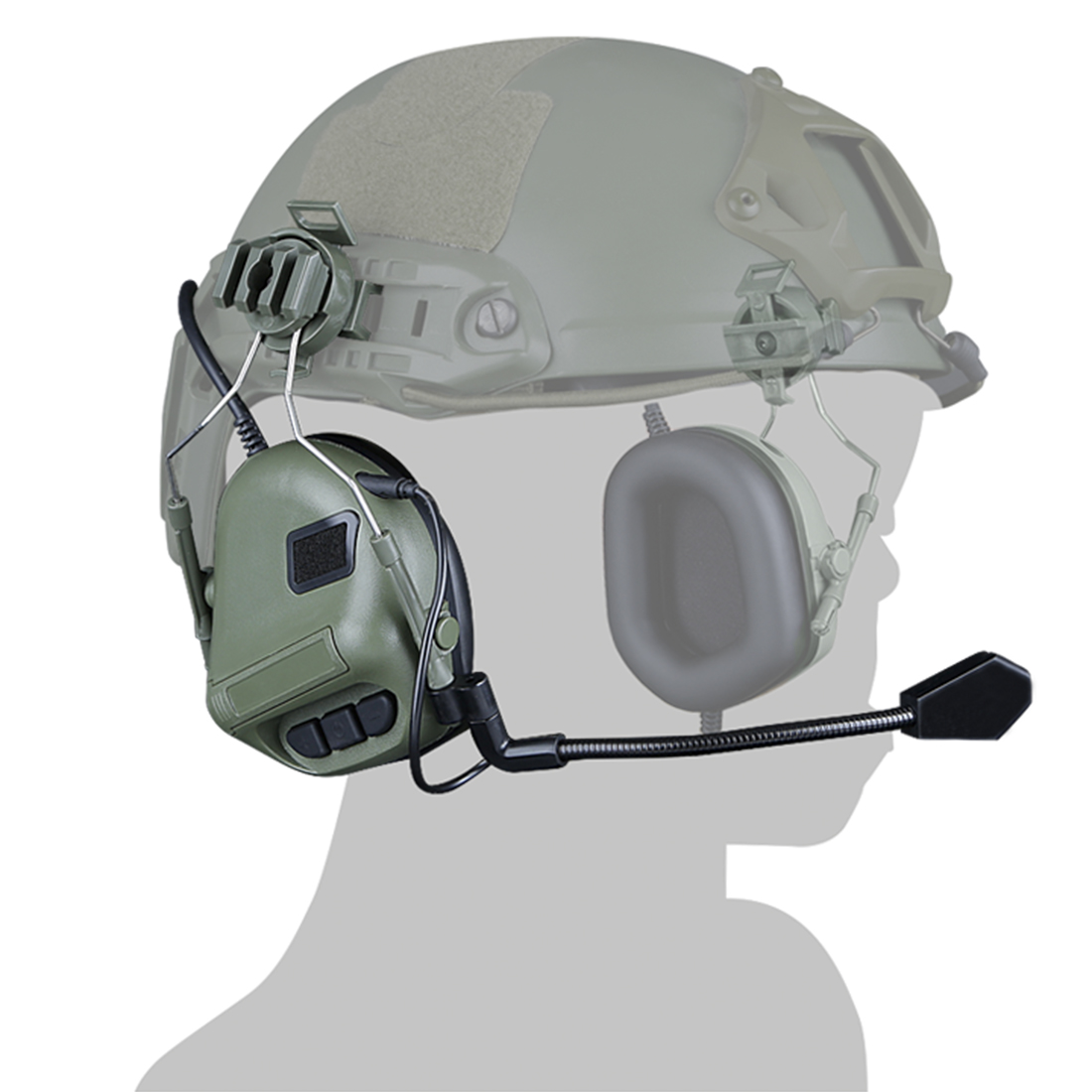 WST Gen.5 Helmet Communication Noise Canceling Headphones Sound  Headset  FOR Airsoft Outdoor Activities