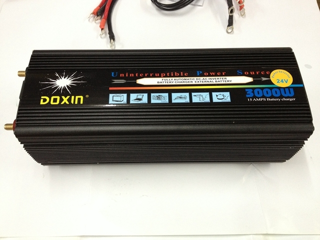3000W 6000W(peak) DC12V to AC220V and DC24V to AC220V 50HZ power Inverter + battery charger