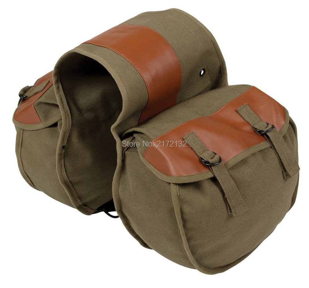 One set Popular Motorcycle Bag Kit Knight Rider motorcycle saddle bag Brown color